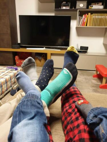 Calzini spaiati in famiglia